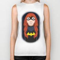 batgirl Biker Tanks featuring Batgirl by SoLaNgE-scf