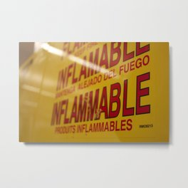 Flammable  Metal Print
