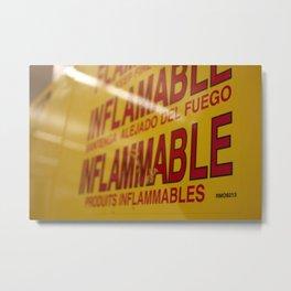 Flammable  Metal Print