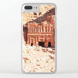314. Tombs of Kings, Petra, Jordanie Clear iPhone Case