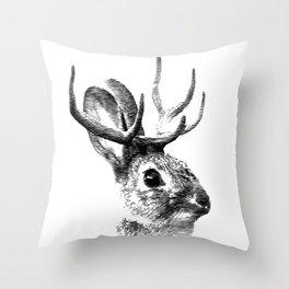 Jackalope Throw Pillow