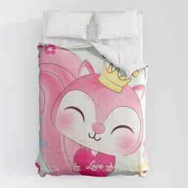 pink squirrel Comforters