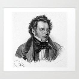 Kriehuber- Portrait of Schubert Art Print
