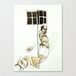 Tristan Corbière, Thick Black Trace, Piece a carreaux Canvas Print