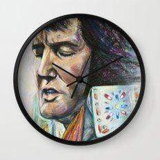 The King - Elvis Presley Wall Clock