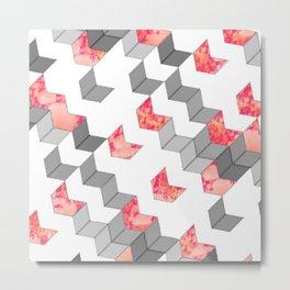 Elegant Minimalist Geometric Pattern Metal Print