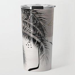 Banana Palms Hamsa Hand Abstract - Naturelle #1 #minimal #wall #decor #art #society6 Travel Mug