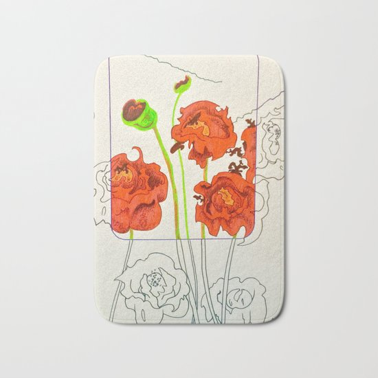 Perspective on Flowers Bath Mat