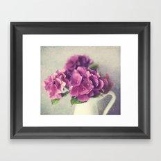 Winter Hydrangea Framed Art Print