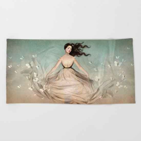 Butterfly Dress Beach Towel