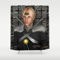 fairytale Shower Curtains featuring Fairytale Prince by Design Windmill
