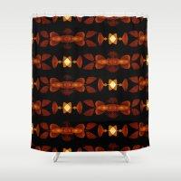 interstellar Shower Curtains featuring Interstellar by SuchDesign