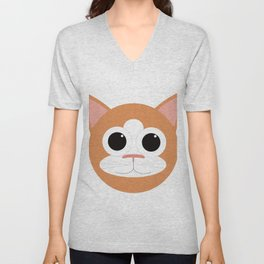 Orange Cat Unisex V-Neck