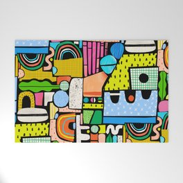 Color Block Collage Welcome Mat
