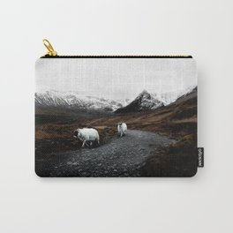SHEEP - MOUNTAINS - SNOW - ROAD - PHOTOGRAPHY - FUNNY Carry-All Pouch