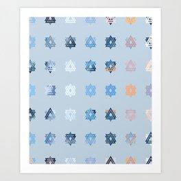 Triniti Snow Crystal (light blue) Art Print