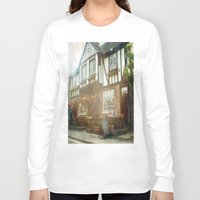 british Long Sleeve T-shirts featuring British Pub by Christine Workman