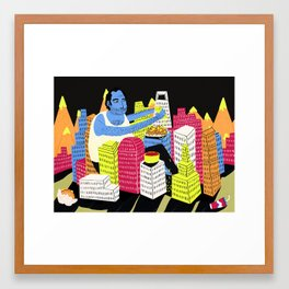 City of Nachos Framed Art Print