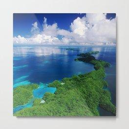 WOW!!! PALAU!! Tropical Island Hideaway Metal Print
