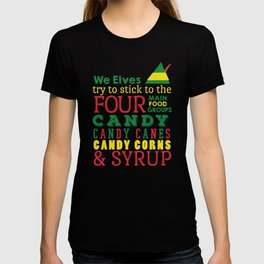 Elves food Groups - Elf the movie T-shirt
