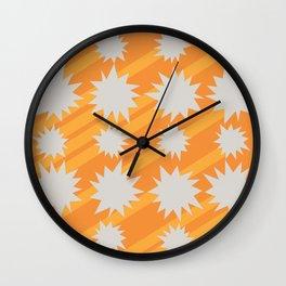 Pow Bang Comets Wall Clock