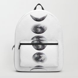 Moon phases watercolor painting Backpack