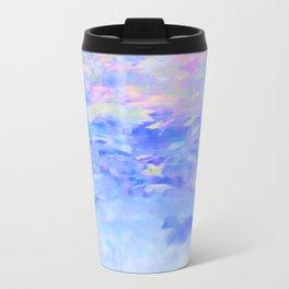 Blue Leaves under a Lavender Sky Travel Mug