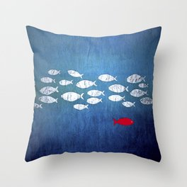 Countercourrent Throw Pillow