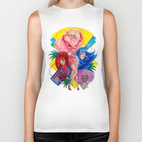 jem Biker Tanks featuring Jem and the Holograms by Megan Mars