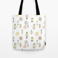 lanterns Tote Bags featuring Lanterns by kizunina