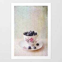 Scratched Blueberries Art Print