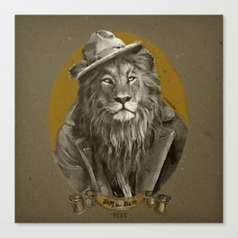 Jay the Lion - Hobo Canvas Print