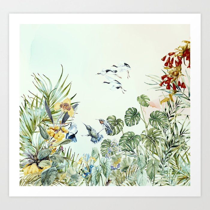 Birds in the paradise of the jungle I Kunstdrucke