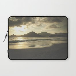 Surfers waiting during sunset at Lombok Laptop Sleeve