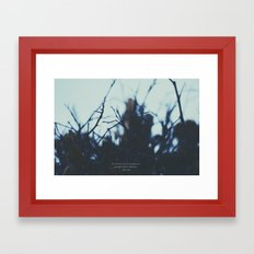 The clearest way. Framed Art Print