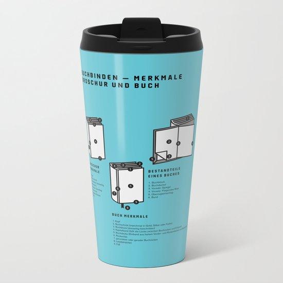 Buchbinden – Merkmale Broschur und Buch (in German) Metal Travel Mug