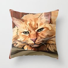 Louie Cat Throw Pillow