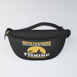Math Teacher And Fishing Fanny Pack