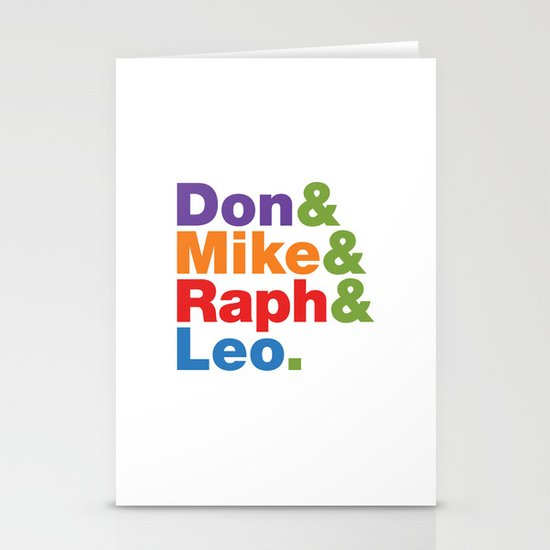 Don & Mike & Raph & Leo. Stationery Cards