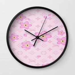 LouisVuitton Pattern Wall Clock