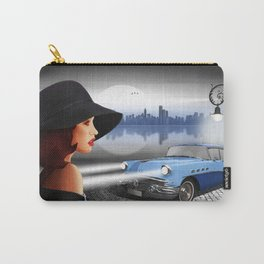 The beauty at night with vintage car Carry-All Pouch