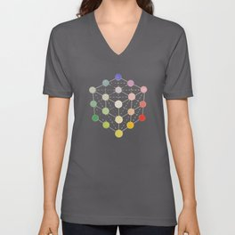 Colour cube (white point) from the Manual of the science of colour by W. Benson, 1871, Remake, vinta Unisex V-Neck