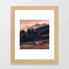 thataway Framed Art Print