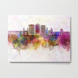 Tucson V2 skyline in watercolor background Metal Print