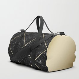 Gold & Black Marble 01 Duffle Bag