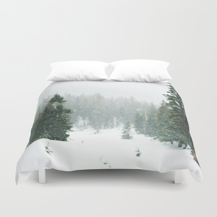 Winter Pace Duvet Cover
