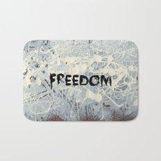 Freedom Pollock Rothko Inspired Black White Red - Modern Bath Mat