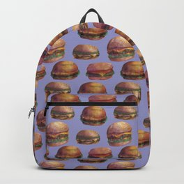 purple burger Backpack