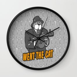 RATATATAT Went The Cat Wall Clock