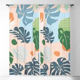 Graphic jungle drawing 202 Blackout Curtain
